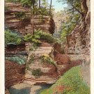 Pillar of Beauty Rock Formation in Watking Glen New York NY Vintage Postcard - 2182