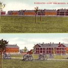 Barracks at Fort Des Moines in Iowa IA, Vintage Postcard - 2195