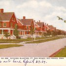 Officers Quarters at Fort Des Moines in Iowa IA, Vintage Postcard - 2196