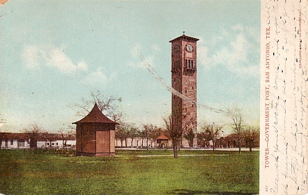 Tower at Government Post in San Antonio Texas TX 1906 Vintage Postcard - 2204