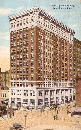 Hippee Building in Des Moines Iowa IA 1913 Curt Teich Vintage Postcard - 2210