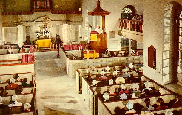 Bruton Parish Church Sanctuary in Williamsburg Virginia VA, 1966 Chrome Postcard - 2239
