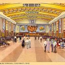 Concourse of Union Terminal in Cincinnati Ohio OH 1933 Curt Teich Postcard - 2318