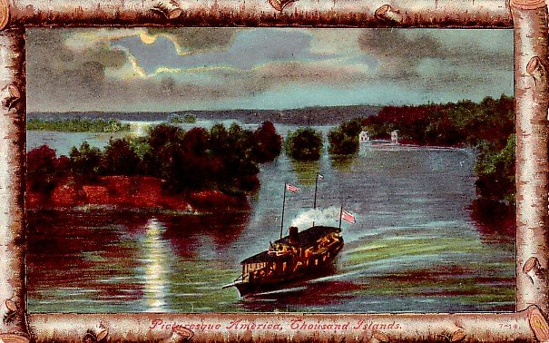 Picturesque America at Thousand Islands in New York NY Vintage Postcard - 2321