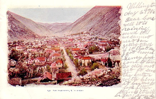 Bird's Eye View of Georgetown Colorado CO, 1906 Vintage Postcard - 2376