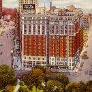Hotel Tuller in Detroit Michigan MI, Mid Century Linen Postcard - 2387