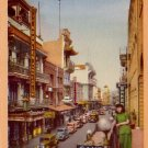 Grant Avenue in Chinatown, San Francisco California CA Linen Postcard - 2393