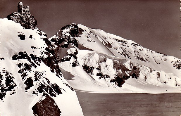 Jungfraujoch Meterologist Sphinx in Switzerland, Real Photo Post Card - 2420