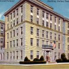 Post Office and Federal Building in Dallas Texas TX, Linen Postcard - 2450