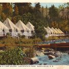 Tent Row at Camp Galena in Custer State Park South Dakota Curt Teich Vintage Postcard - 2472