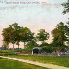 Greenwood Park in Des Moines Iowa IA, Vintage Postcard - 2484