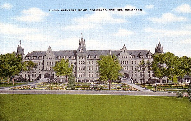 Union Printers Home in Colorado Springs CO, Linen Postcard - 2495