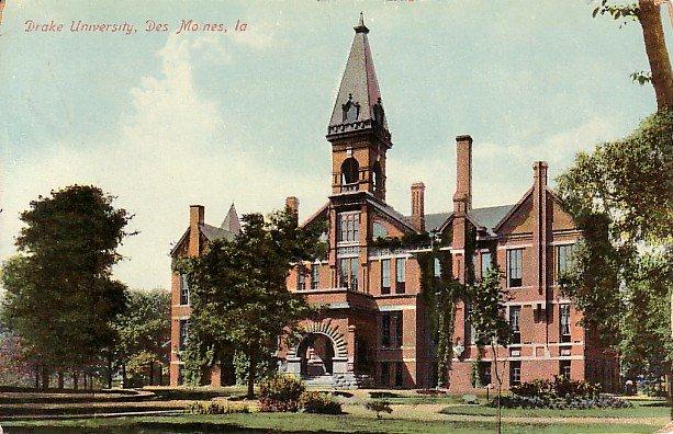 Drake University in Des Moines Iowa IA, Vintage Postcard - 2509