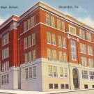 Shamokin High School in Pennsylvania PA, Mid Century Linen Postcard - 2512