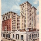 Peoples State Bank and Penobscot Building in Detroit Michigan MI, Vintage Postcard - 2536