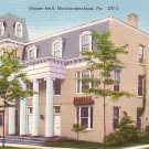Moose Hall in Northumberland Pennsylvania PA, Linen Postcard - 2551