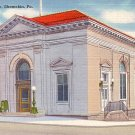 United States Post Office in Shamokin Pennsylvania PA, Linen Postcard - 2552