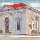 United States Post Office in Shamokin Pennsylvania PA, Linen Postcard - 2552
