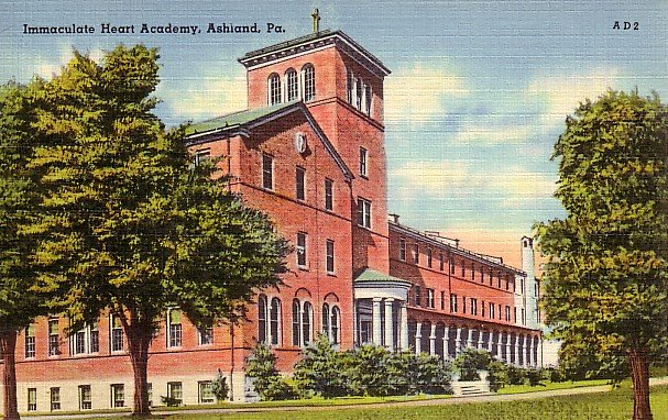 Immaculate Heart Academy in Ashland Pennsylvania PA, Linen Postcard - 2557