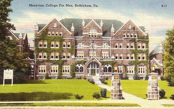 Moravian College For Men in Bethlehem Pennsylvania PA Linen Postcard - 2559