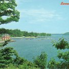 Harbor View at Sorrento Maine ME, Chrome Postcard - 2574