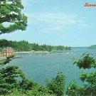 Harbor View at Sorrento Maine ME, Chrome Postcard - 2574