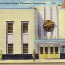 Loyal Order of Moose in Williamsport Pennsylvania PA, Linen Postcard - 2577