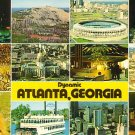 Dynamic Atlanta Georgia GA, Multi View Chrome Postcard - 2601