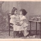 Loving Children with Toy Buildings, Vintage Postcard - 2625