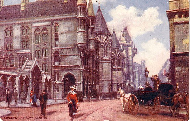 The Law Courts in London England Raphael Tuck & Sons Vintage Postcard - 2626