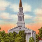 Mead Memorial Chapel at Middlebury College in Vermont VT, Linen Postcard - 2657