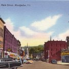Main Street in Montpelier Vermont VT, Mid Century Linen Postcard - 2658