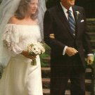Ronald Reagan Walking Pattie Davis Down Aisle 1984 Chrome Postcard - 2670