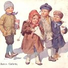 Children Walking to School with Bully Following, K Feiertag 1913 Vintage Postcard - 2672