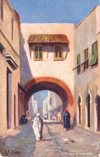 Street in Mazagan Morocco, Raphael Tuck & Sons Vintage Postcard - 2684