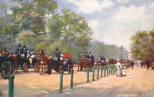 Hyde Park in London England, Raphael Tuck & Sons Vintage Postcard - 2687