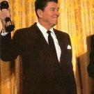 Ronald Reagan Pumping Iron Chrome Postcard - 2699