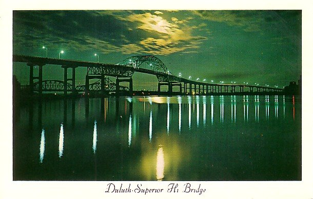 Duluth Superior Hi Bridge Connecting Minnesota and Wisconsin Postcard - 2732