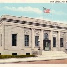 Post Office in Fort Madison Iowa IA, Mid Century Curt Teich Linen Postcard - 2739