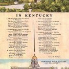 In Kentucky, Verse with Multi Views of KY, Linen Postcard - 2756