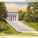 Lincoln National Memorial in Hodgenville Kentucky KY, 1937 Curt Teich Linen Postcard - 2757