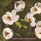 Magnolias, State Flower of Louisiana LA, 1938 Curt Teich Linen Postcard - 2783