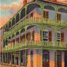 Lace Work in Iron, New Orleans Louisiana LA, 1937 Curt Teich Linen Postcard - 2791