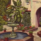 Courtyard in Vieux Carre, New Orleans Louisiana LA, 1947 Curt Teich Linen Postcard - 2797