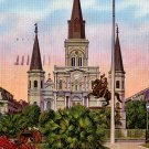 St. Louis Cathedral at Jackson Square in New Orleans Louisiana LA, Postcard - 2808