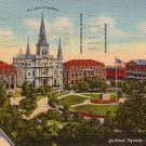 Jackson Square in New Orleans Louisiana LA, 1954 Curt Teich Postcard - 2810