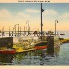 Public Boat Landing in Rockland Maine ME, Linen Postcard - 2814