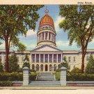 State House in Augusta Maine ME, 1940 Curt Teich Linen Postcard - 2819