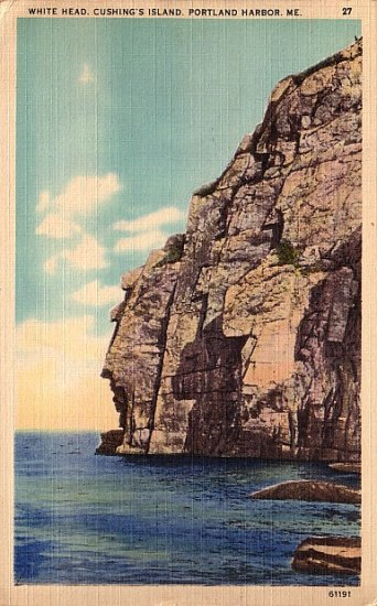White Head at Cushing's Island in Portland Harbor Maine ME, 1946 Linen Postcard - 2823