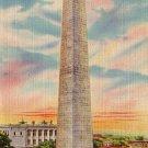 Bunker Hill Monument in Boston Massachusetts MA, Linen Postcard - 2829